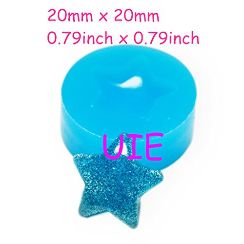 224LBP Star Mold Silicone Flexible Mold 20mm - Polymer Clay Sugarcraft Cake Decorating Charms Molds, Jewelry Mould Food Safe (Food Safe Clay Molds)