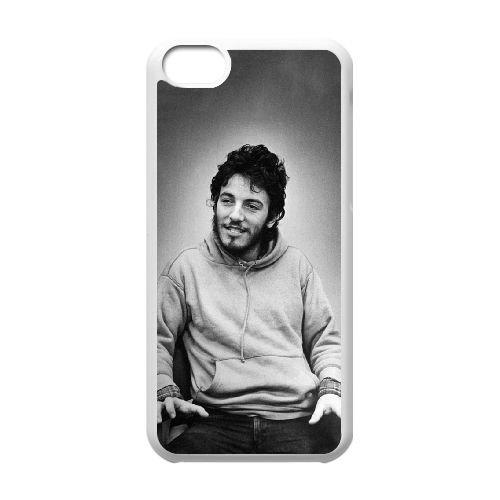 N3E16 Bruce Springsteen E6W7DN cas d'coque iPhone de téléphone cellulaire 5c couvercle coque blanche SF4LRR1NU