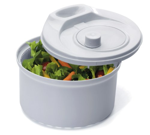 Salad White Spinner (Prepworks by Progressive Flow Through Salad Spinner - 3.5 Quart)
