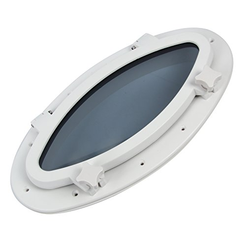 Amarine-made-Boat-Yacht-Elliptical-Oval-Opening-Portlight-Porthole-16-X-8-58-Replacement-Window-Port-Hole-ABS-White-Tempered-Glass