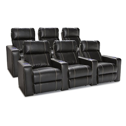- Seatcraft 227E511613R3R3-V2 Dynasty recliners, 2 Rows of 3, Black