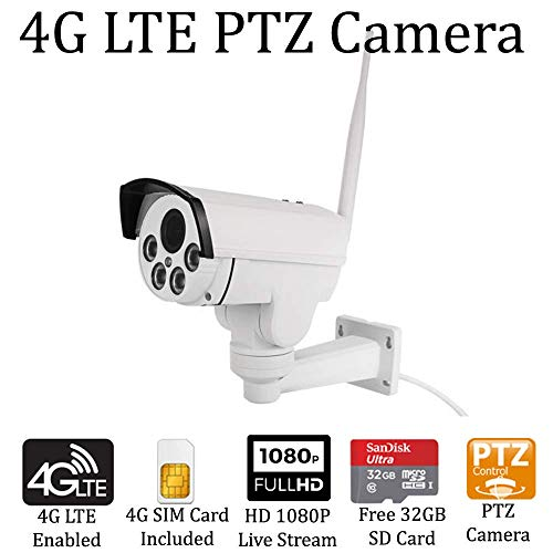 AES RD-85LITE 4G LTE PTZ 10x Zoom Mobile Outdoor Spy PI Investigations Police Law Enforcement Sting Surveillance Mobile Trail Cam Security Military Bullet Camera (Remote View, Playback and Alerts)
