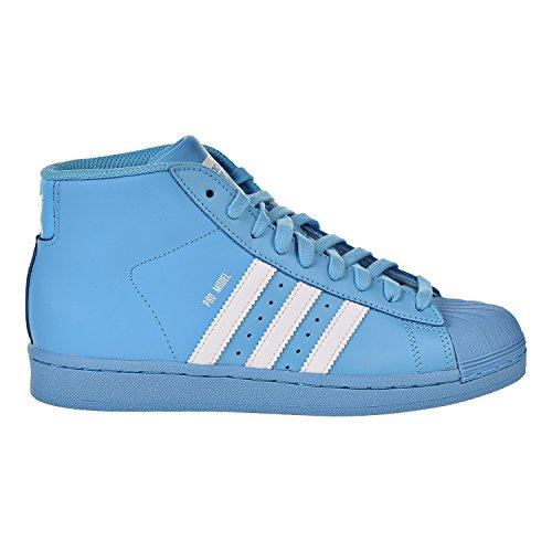 adidas Originals Pro Model Big Kid's Basketball Shoes Cyan/Core White/Cyan b39373 (5 M US)
