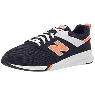 New Balance Men's 009 V1 Sneaker, Pigment/Nubuck Navy/Dark Mango, 11.5 D US