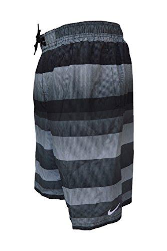 Nike Mens Drift Printed Drawstring Swim Trunks 11' Large Black/Grey