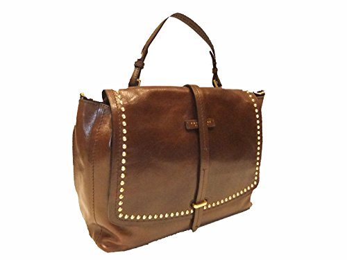 à cuir cm braun braun Rock Sac main 36 The Bridge POxtqwXqa