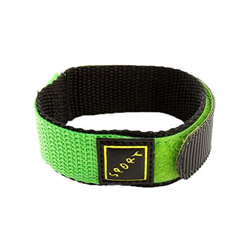 Mayunn Men's Women's 22mm Wrap-Around Nylon Watch Strap Band Sport - 5 Colors (Green) ()