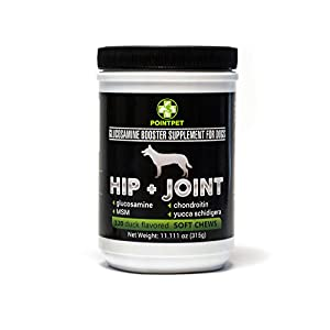 POINTPET Glucosamine for Dogs, Premium Joint Supplement with Chondroitin, MSM, Omega 3, 6, Vitamin C and E, Supports Healthy Joints, Improves Mobility and Hip Dysplasia, Arthritis Pain Relief 28