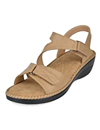 DREAM PAIRS Women's Platform Wedge Sandal