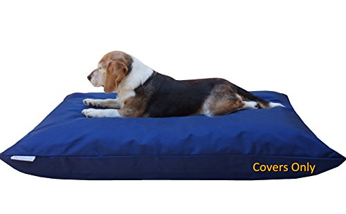 Do It Yourself DIY Pet Bed Pillow Duvet 1680 Durable Cover and Waterproof Internal case for Dog/Cat at Medium 36X29 Navy Blue Color - Covers only