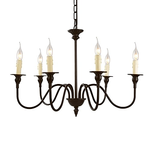 LNC 6-Light Chandelier Lighting Candle Candlelabra Chandelie