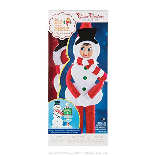 The Elf on the Shelf Claus Couture Collection 2018 Exclusive Silly Snowman Set (Snowman Shelf)