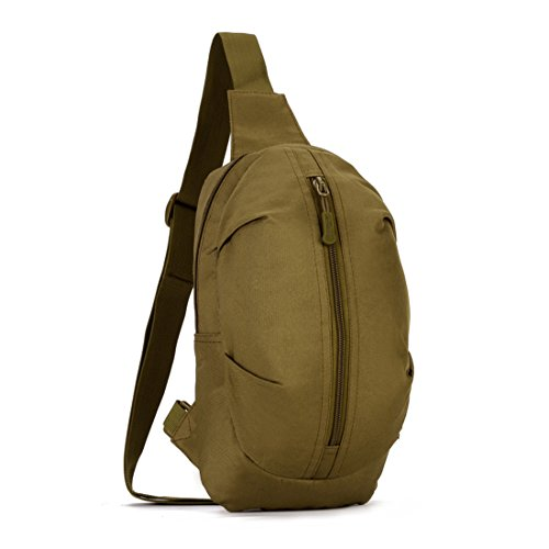 Nylon Travel Sling Bag Shoulder Fanny Men Chest Pack Waist Khaki Hiking Messenger dqC5vxwS