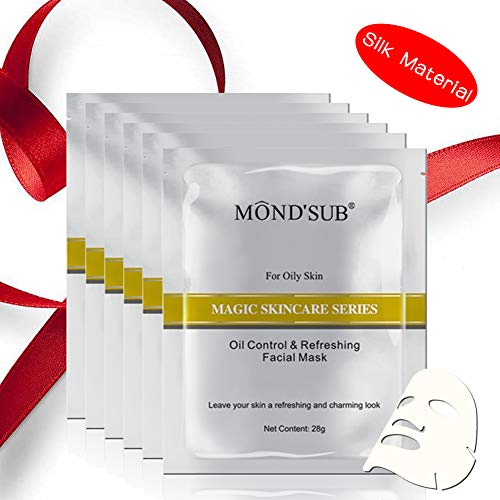 [6 Value Pack]Hydrating Sheet Face Mask | Professional Moisturizing & Brightening | Best Moisturizer for Oily skin |Best Facial Sheet Masks for Oily Skin with Original Silk Material-MOND'SUB
