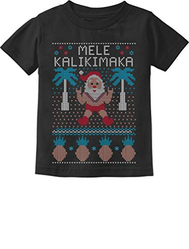 TeeStars - Mele Kalikimaka Hawaiian Santa Ugly Christmas Toddler Kids T-Shirt