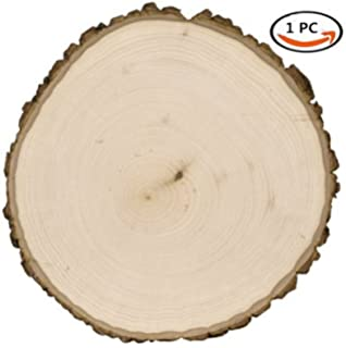 High Quality COCO Unpainted Natural Round Blank Wood Slices With Tree Bark Log Discs For  DIY Craft Woodburning