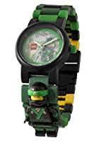 LEGO Ninjago Movie Lloyd Kids Minifigure Link Buildable Watch | green/black| plastic | 28mm case diameter| analog quartz | boy girl | official