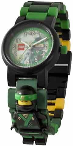 LEGO Ninjago Movie Lloyd Kids Minifigure Link Buildable Watch | green/black| plastic | 28mm case diameter| analog quartz | boy girl | official