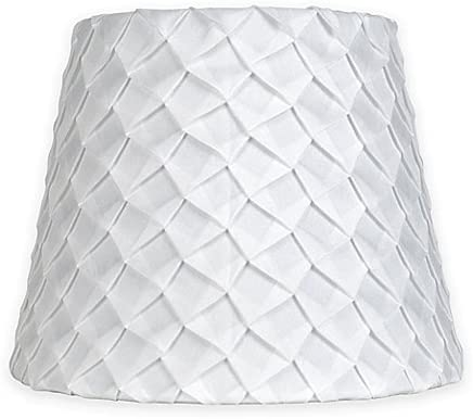 Mix Match Small 9-Inch Textured Pleat Lamp Shade in White