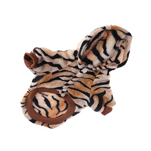 Shoresu Pet Dogs Cats Puppy Clothes Winter Warm Coat Small Dogs Tiger Hooded Costume Winter Warm Fleece Puppy Coat Jacket - -