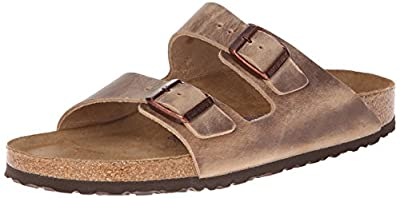 Birkenstock Unisex Arizona SFB Tobacco Oiled Leather Sandals - 39 M EU / 8-8.5 B(M) US