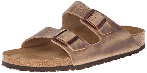 Arizona Sandals Leather Birkenstock (Birkenstock Unisex Arizona Tobacco Oiled Leather Sandals - 38 N EU / 7-7.5 2A(N) US)