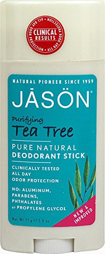 - JASON Purifying Tea Tree Roll-On Deodorant Stick, 2.5 oz. (Packaging May Vary)