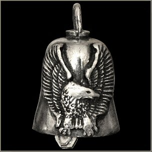 Eagle with Upturned Wings Gremlin Bell guardian biker harley motorcycle good luck charm