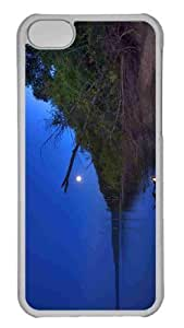 Customized iphone 5C PC Transparent Case - Walk On The Wild Side Personalized Cover