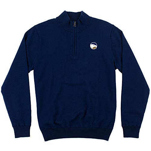 Oxford NCAA Georgia Southern Eagles Mens Mansell Long Sleeve Line Wind Sweater Pullovermen's Mansell Long Sleeve Line Wind Sweater Pullover, Medieval Blue, Large ()
