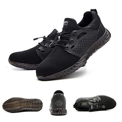 Chaussure de Securité Homme Femme Bottes Travail Chantiers Industrie Sneakers Protection Embout en Acier Basket de… 2