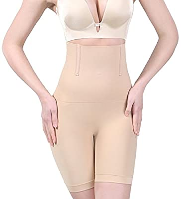 Jenbou Women's Hi-Waist Body Shaper Butt Lifter Shapewear Trainer Tummy Control Panties Seamless Thigh Slimmers Cincher