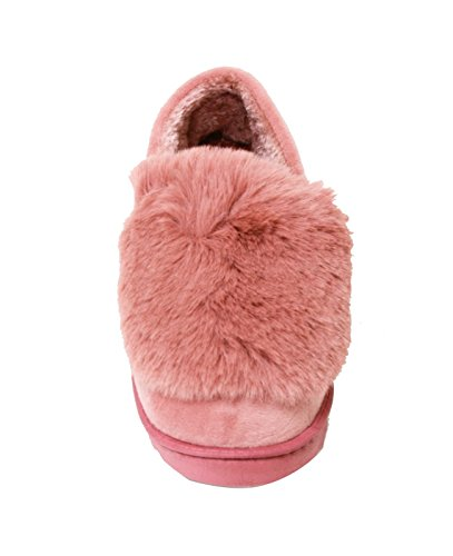 Happy Bull Slippers For Womens Moccasin Slip On Indoor Shoes Faux Fur Bootie (Susy) Coral IV2vcHEDwb