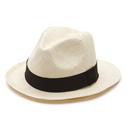 Vans Off The Wall Men's Riverdale Straw Hat Cap - Off White (S/M)