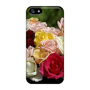 Cute High Quality Iphone 5/5s A Lovely Bouquet Of Different Colored Roses Case