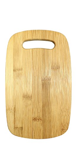 (Gourmet Home Products Medium Bamboo Cutting Board with Cut Out Handle, 12.5