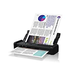 Delivering the fastest scan speeds in its class, the DS-320 compact duplex document scanner is the intelligent choice for efficient organization — whether working in the office or remotely. Quickly scan 2-sided documents, business cards and r...
