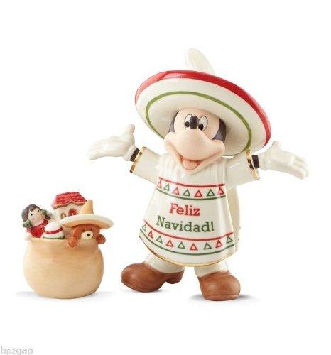 Disney Lenox Feliz Navidad Mickey Mouse Figurine ()