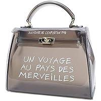 Puimentiua Bags For Women 2019 Clear Transparent PVC Bag Jelly Shoulder Bag Beach Letter Candy Women Crossbody Luxury Sac Femme