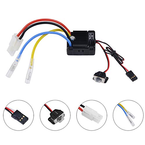 Ranoff SurpassHobby Waterproof 1060 60A Brushed ESC for 1:10 RC Car (Muiticolor) (Motors Car Brushless 1 Rc 10)