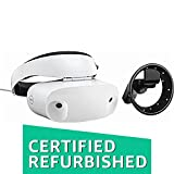 Dell - Visor Virtual Reality Headset and Controllers for Compatible Windows PCs (Renewed), White headset with black controls
