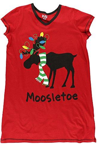 LazyOne Donna Moosletoe Camicia da Notte Collo V