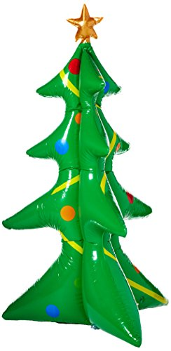 Wembley Men's Jumbo Indoor/Outdoor Inflatable Decorative Christmas Tree, green, One Size