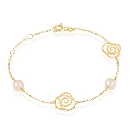 HISTOIRE D'OR - Bracelet Or Perle de culture - Femme - Or jaune 375/1000
