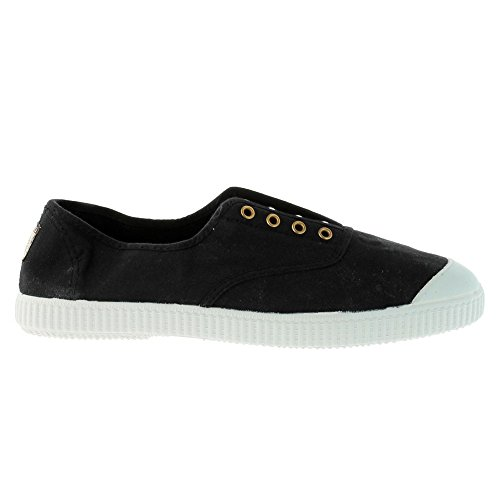 Victoria - Zapatillas de casa de tela para niños Negro