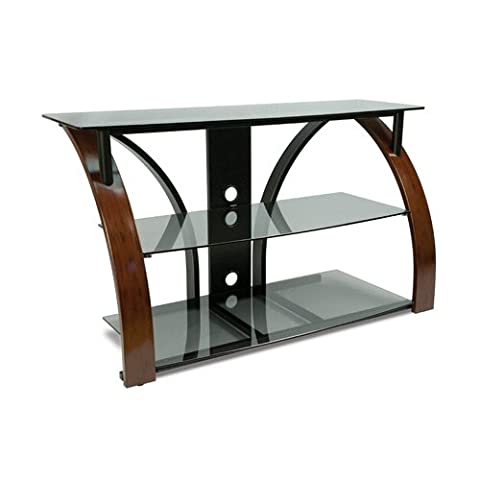 Bell'O AVSC2141 AV System Hold Up To 46-Inch or 125lbs TV Dark Cherry - Cherry Finished Tv Stand
