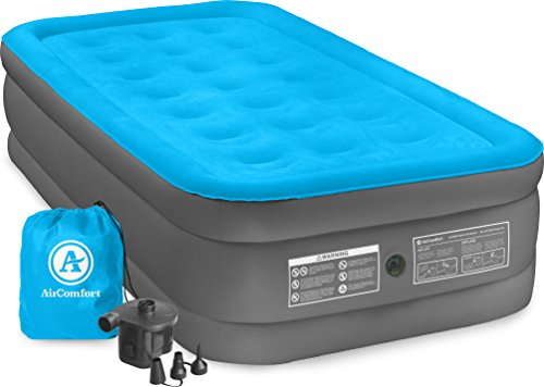Air Comfort Camp Mate Twin Size Raised Air Mattress with Bat
