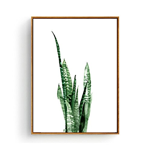 Hepix Succulent Wall Art Canvas Tropical Plants Wall Decor Simple Wooden Framed Paintings Tropical Office Decor Wall Pictures for Modern Home Decor Ready to Hang 13 x 17 inch