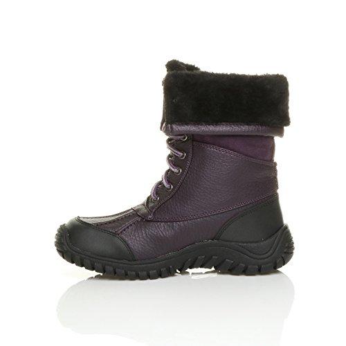 Ajvani - Botas de nieve mujer Morado - Dark Indigo Purple