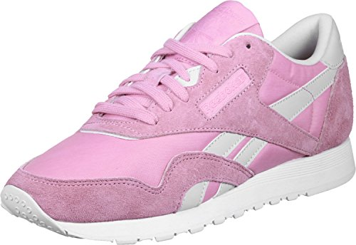 Women's Reebok Pink White Slim Hv Cl Sneakers Nylon x1wv7nAq1